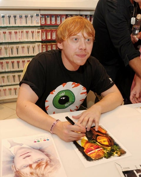 Rupert Grint hosts an autograph signing at Sugar Factory at Paris Las Vegas on September 18, 2011 in Las Vegas, Nevada.