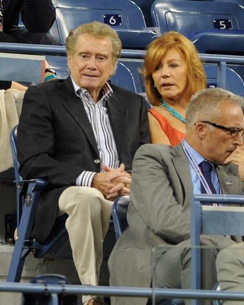 Regis Philbin and Joy Philbin attend the 2011 US Open at USTA Billie Jean King National Tennis Center on August 31, 2011 in New York City.