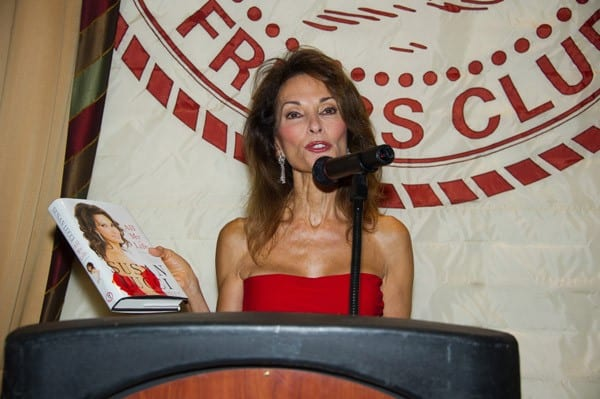 Actress Susan Lucci promotes 'All My Life: A Memoir' at the New York Friars Club on September 7, 2011 in New York City.