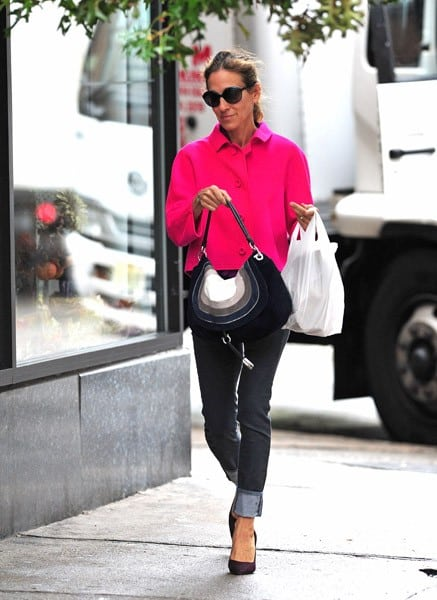 Sarah Jessica Parker is seen walking in the West Village on September 20, 2011 in New York City.