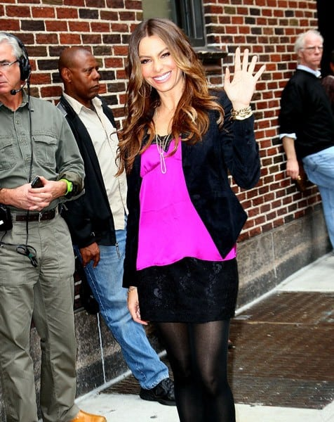 Actress Sofia Vergara arrives to 'Late Show With David Letterman' at the Ed Sullivan Theater on September 22, 2011 in New York City.