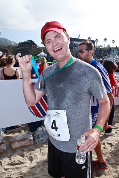 Rainn Wilson, Tiffani Theissen, Jay Leno attends the 2011 Nautica Malibu Triathlon Sponsored by Herbalife on September 18, 2011 in Malibu, California.