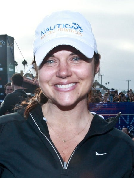 Tiffani Theissen, Jay Leno attends the 2011 Nautica Malibu Triathlon Sponsored by Herbalife on September 18, 2011 in Malibu, California.
