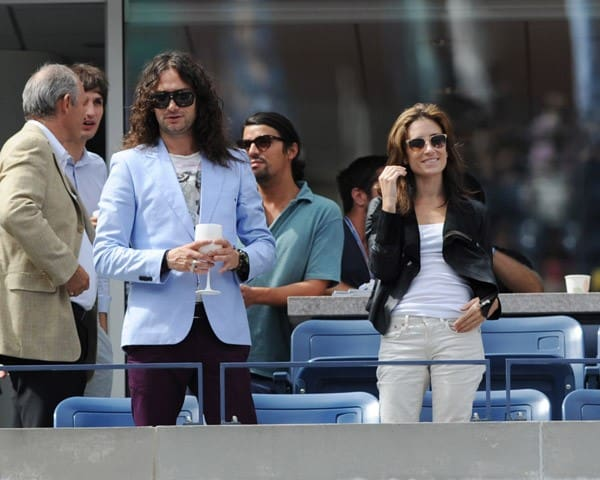 Constantine Maroulis, Ciara, Star Jones and Al Roker attend the 2011 US Open at USTA Billie Jean King National Tennis Center on September 10, 2011 in New York City.