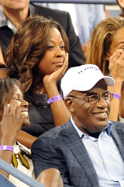 Star Jones and Al Roker attend the 2011 US Open at USTA Billie Jean King National Tennis Center on September 10, 2011 in New York City.