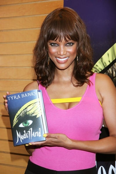 TV personality Tyra Banks signs copies of her new book 'Modelland' at Barnes & Noble 3rd Street Promenade on September 14, 2011 in Santa Monica, California.