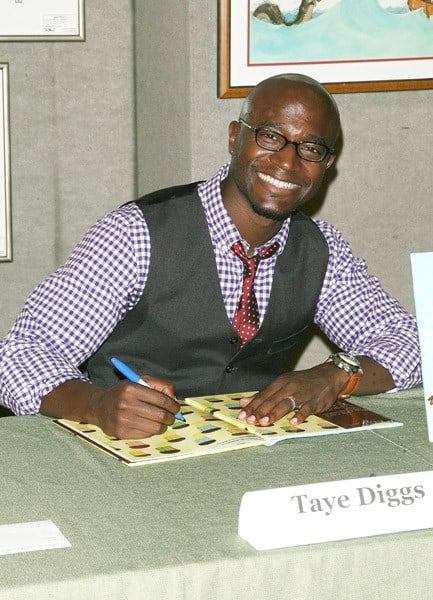 Taye Diggs promotes the new book 'Chocolate Me' at Books of Wonder on September 28, 2011 in New York City.