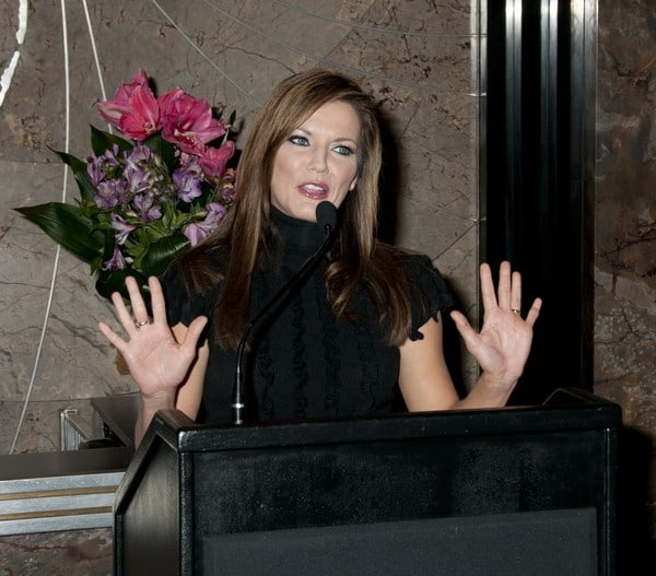 Martina McBride Lights the Empire State Building Pink to Raise Awareness for Breast Cancer on October 14, 2011 in New York City.