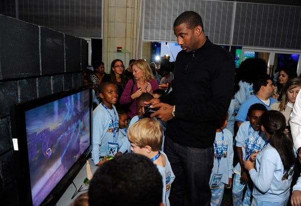 Basketball Player Amar'e Stoudemire hosts Skylanders Spyro's Adventure Launch Event at Guastavino's on October 14, 2011 in New York City.