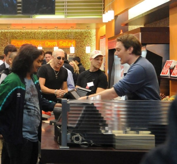 Dee Snider, Clay Aiken, Lou Ferrigno filming on location for 'Celebrity Apprentice' on October 18, 2011 in New York City.