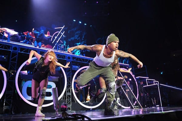 Chris Brown performs at American Airlines Arena on October 5, 2011 in Miami, Florida.