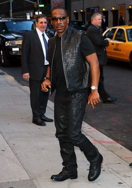 Actor Eddie Murphy arrives to 'Late Show With David Letterman' at the Ed Sullivan Theater on October 25, 2011 in New York City.
