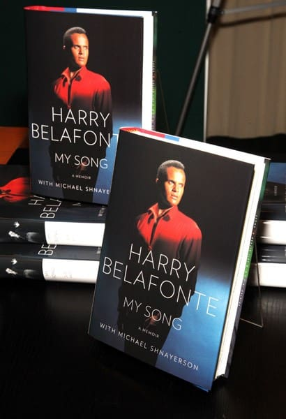 Harry Belafonte promotes 'My Song: A Memoir' at the Barnes & Noble, 5th Avenue on October 13, 2011 in New York City.