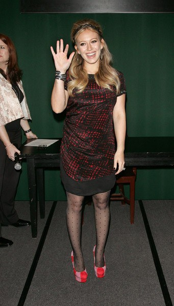 Hilary Duff promotes 'Devoted' at Barnes & Noble Tribeca on October 10, 2011 in New York City.