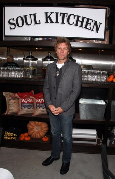 jon bon jovi attends the soul kitchen opening celebration on october 19 2011 in red - Jon Bon Jovi Soul Kitchen