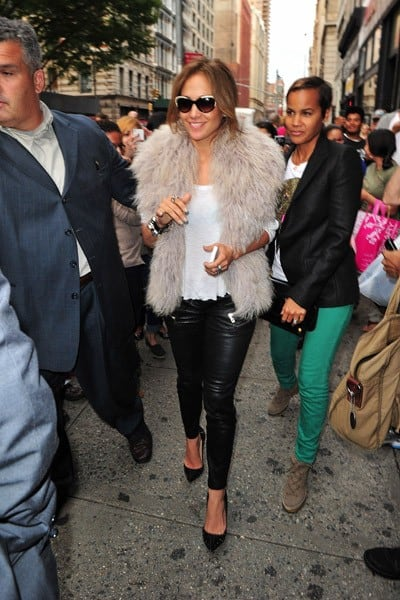 Jennifer Lopez seen on the streets of Manhattan on September 30, 2011 in New York City.