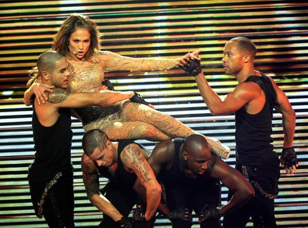 Jennifer Lopez performs at the Mohegan Sun 15th anniversary celebration on October 22, 2011 in Uncasville, Connecticut.