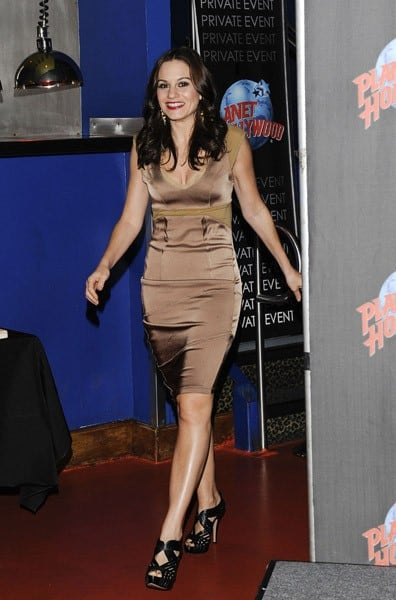 Kara DioGuardi visits Planet Hollywood Times Square on October 14, 2011 in New York City.