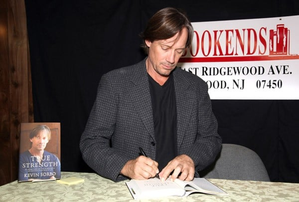 Kevin Sorbo promotes 'True Strength' at Bookends Bookstore on October 19, 2011 in Ridgewood, New Jersey.