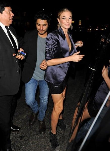 LeAnn Rimes is seen at Nobu restaurant on October 4, 2011 in Los Angeles, California.