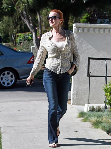 Marcia Cross is seen shopping in Santa Monica on October 16, 2011 in Los Angeles, California.