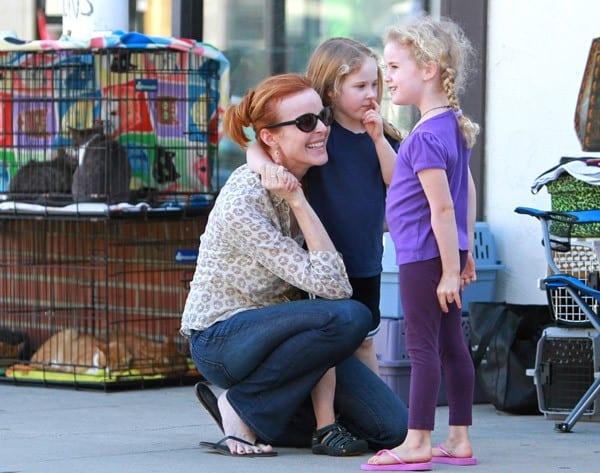 Marcia Cross is seen shopping in Santa Monica on October 16, 2011 in Los Angeles, California.