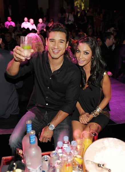 Mario Lopez and Courtney Mazza celebrate Mario Lopez's birthday at Gallery Nightclub at Planet Hollywood Resort & Casino on October 8, 2011 in Las Vegas, Nevada.