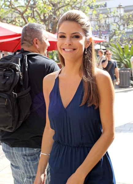Maria Menounos is seen at The Grove on October 18, 2011 in Los Angeles, California.