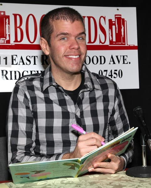 Perez Hilton promotes 'The Boy with Pink Hair' at Bookends Bookstore on October 16, 2011 in Ridgewood, New Jersey.