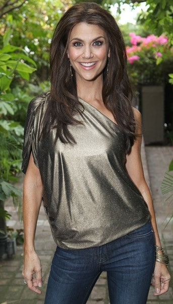 Samantha Harris attends the launch of DL1961 and the 'Samantha' jean at Chateau Marmont on October 4, 2011 in Los Angeles, California.