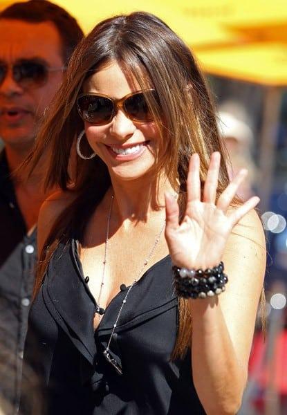 Sofia Vergara is seen on October 9, 2011 in Los Angeles, California.