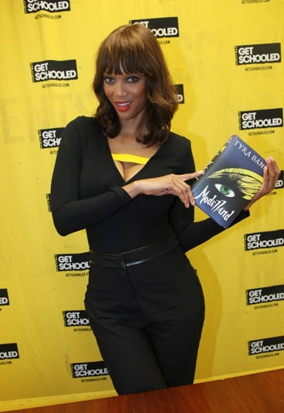 Tyra Banks visits the High School for Teaching and Professions on October 19, 2011 in New York City.