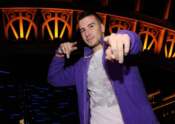 Television personality Vinny Guadagnino hosts at the Chateau Nightclub & Gardens at the Paris Las Vegas early on October 23, 2011 in Las Vegas, Nevada.