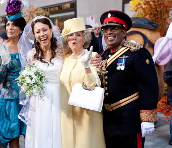 Hoda Kotb, Ann Curry, Meredith Viera and Al Roker attend NBC's 'Today Show' Halloween Special at Rockefeller Plaza in New York on October 31, 2011