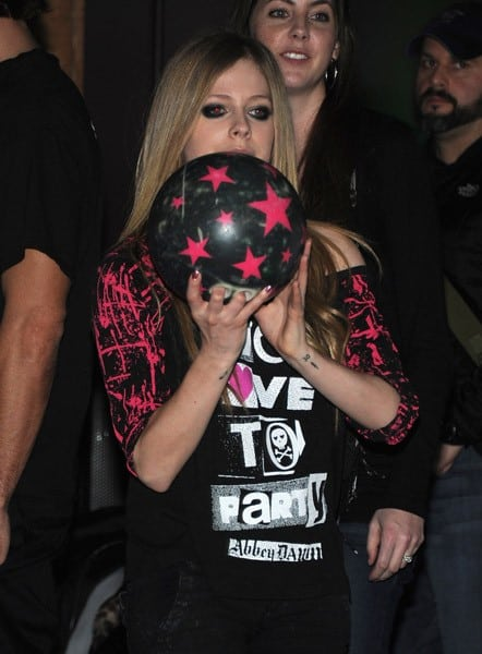 Avril Lavigne attends the Picksie 2.0 launch party at Lucky Strike Lanes & Lounge on November 22, 2011 in New York City.