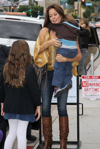 Brooke Burke is seen at the Jim Henson Studios on November 12, 2011 in Los Angeles, California.