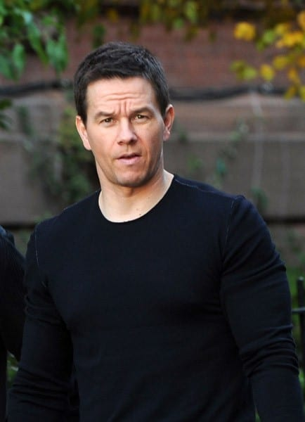 Mark Wahlberg on the set of 'Broken City' on the streets of Brooklyn on November 7, 2011 in New York City.