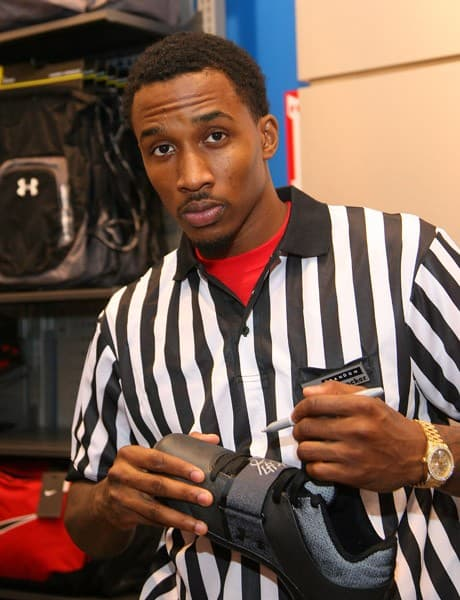 NBA Player Brandon Jennings attends Foot Locker To Celebrate The Release Of The Brandon Jennings Under Armour Micro G Bloodline Shoe Inspired By Journey To The NBA on November 4, 2011 in Culver City, California.