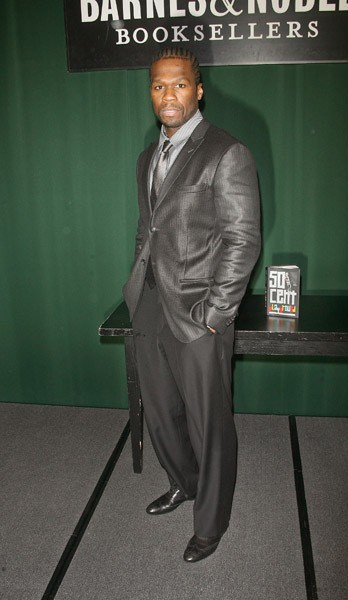 Curtis '50 Cent' Jackson promotes 'Playground' at the Barnes & Noble Tribeca on November 4, 2011 in New York City.