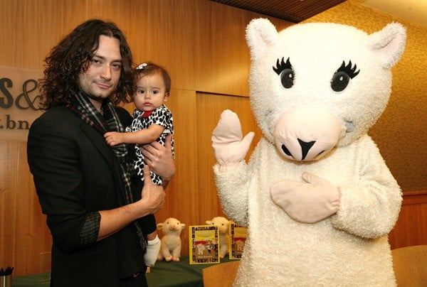 Constantine Maroulis and Malena Maroulis attend the 'Loukoumi's Celebrity Cookbook' launch at Barnes & Noble, 86th & Lexington on November 27, 2011 in New York City.