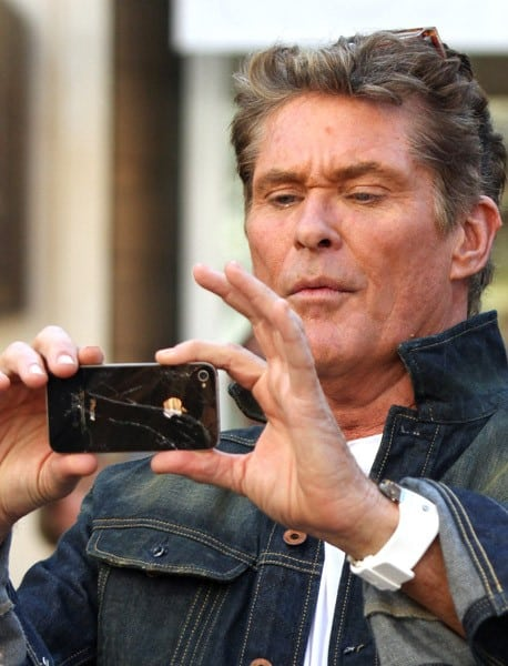 David Hasselhoff is seen at The Grove on October 31, 2011 in Los Angeles, California.