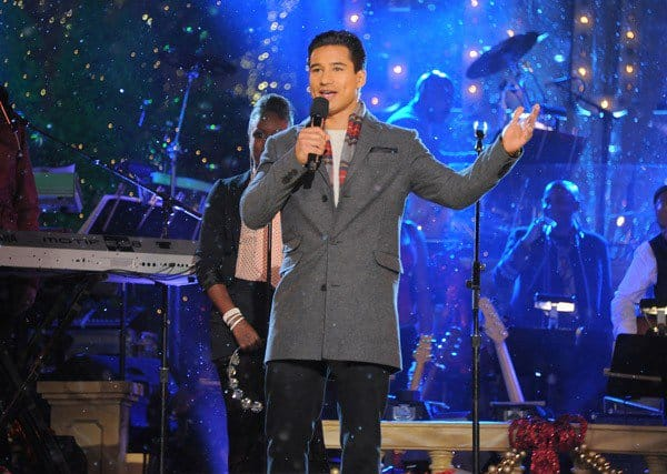 Mario Lopez, Victoria Justice, Sean Kingston performs at the Hollywood Christmas Celebration and Tree Lighting at The Grove on November 13, 2011 in Los Angeles, California.