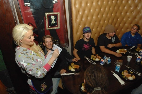 Holly Madison and the Hard Rock Cafe feed the underprivileged of Las Vegas at the Hard Rock Cafe on November 24, 2011 in Las Vegas, Nevada.