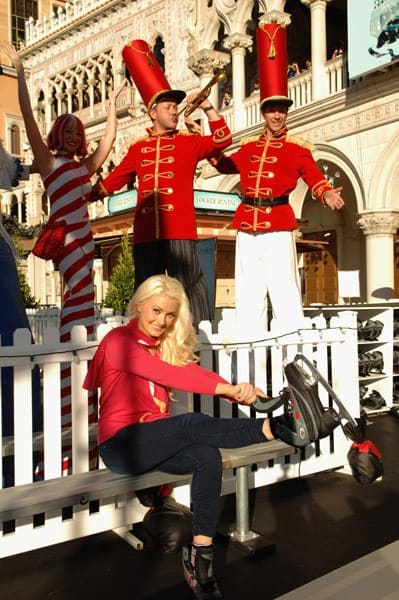 Holly Madison appears During the 'Winter In Venice' At The Venetian Resort Hotel Casino And The Palazzo Resort-Hotel-Casino in Las Vegas on November 29, 2011 in Las Vegas, Nevada.