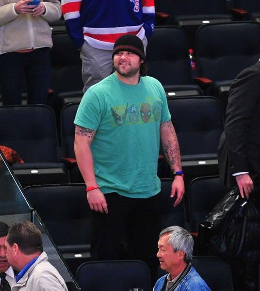 Joba Chamberlain attends the Philadelphia Flyers vs the New York Rangers game at Madison Square Garden on November 26, 2011 in New York City.