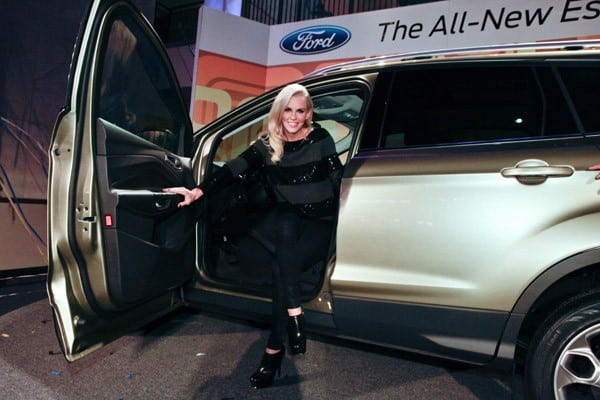 Jenny McCarthy helps reveal the 2013 Ford Escape at Hollywood & Highland Courtyard on November 15, 2011 in Hollywood, California.