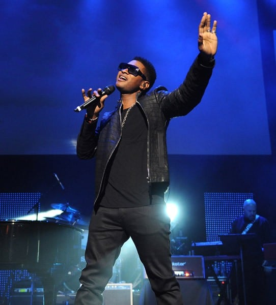 Usher, will.i.am performs on stage at Keep A Child Alive's 8th annual Black Ball at Hammerstein Ballroom on November 3, 2011 in New York City.