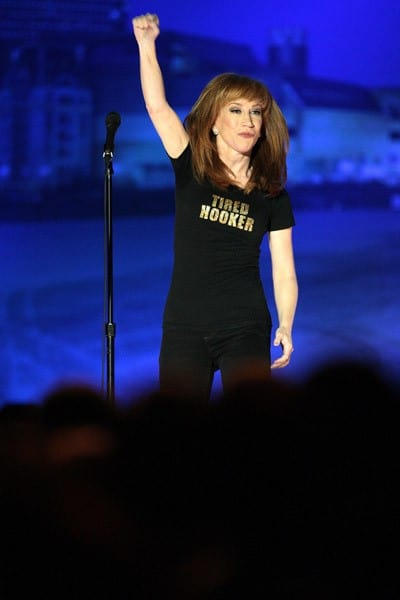 Kathy Griffin performs at the Borgata Hotel Casino & Spa during a taping of her Bravo Channel special November 19, 2011 in Atlantic City, New Jersey