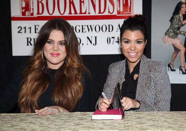 Khloe Kardashian and Kourtney Kardashian promote the new book 'Dollhouse' at Bookends Bookstore on November 16, 2011 in Ridgewood, New Jersey.