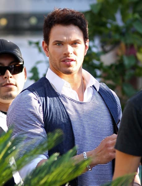Kellan Lutz is seen at The Grove on November 8, 2011 in Los Angeles, California.